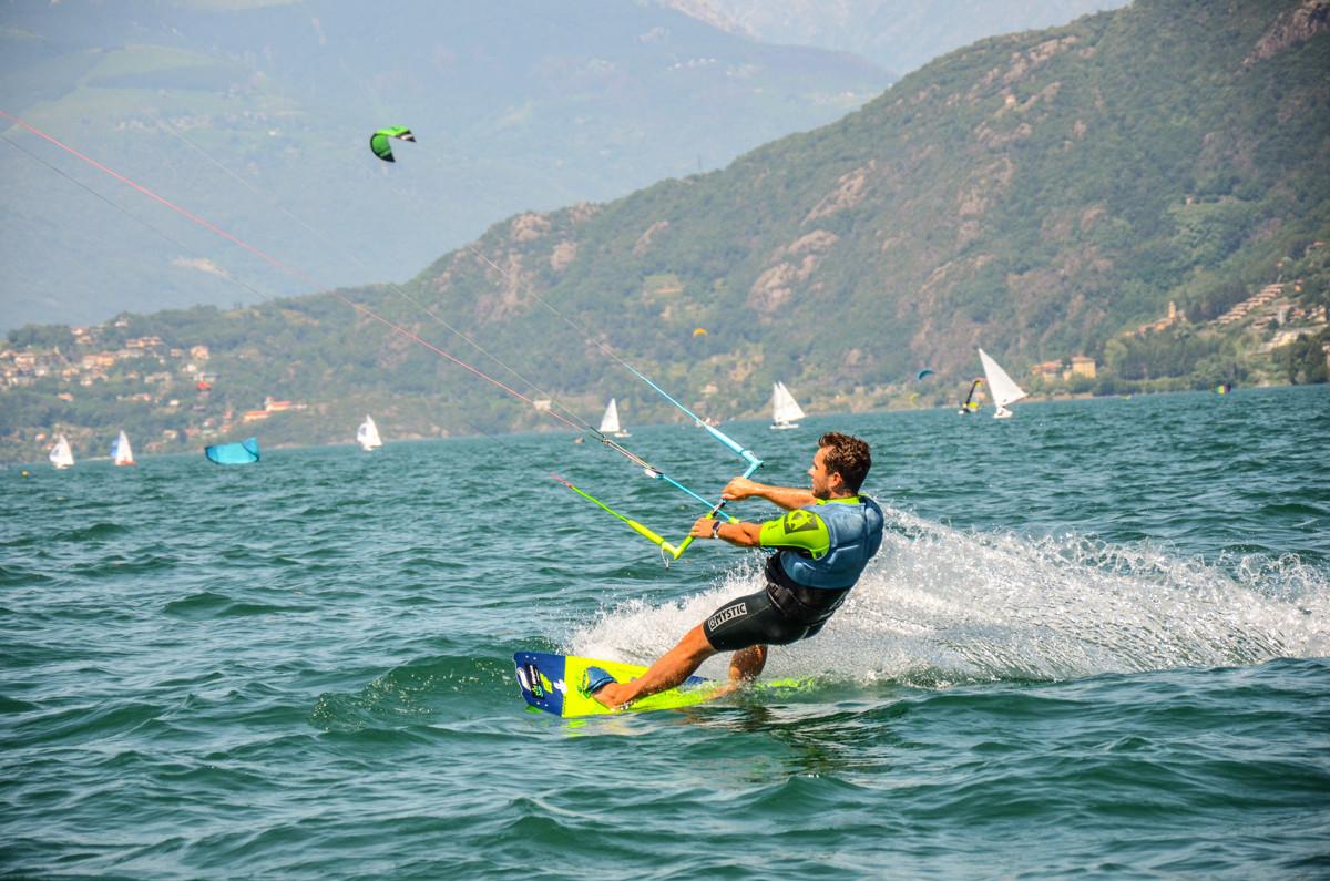 Il Kitesurfer Daniel Fritz a Dervio